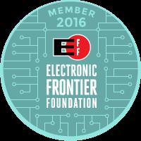 EFF Member Badge for 2016
